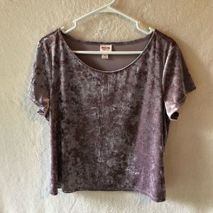 Mossimo Velvet Semi-Cropped Top